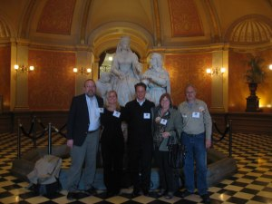 My 2012 Park Advocacy Day Team: George Loyer, Kirsten Schulz, Avery Dinauer, M.J. Wickham, and myself.