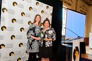 Assembly Republican Leader Kristin Olsen accepts her Park Legacy Award from CSPF Board Trustee Virginia Chang Kiraly