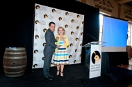 Assemblymember Anthony Rendon accepts his Legacy Award from CSPF Trustee Wendy James