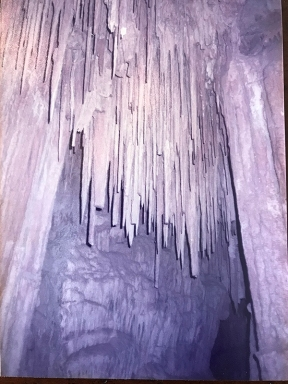 Inside Mitchell Caverns in 1984