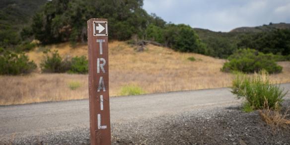 Valentine Blog Trailhead sign